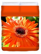 Bright Orange Gerbera  Duvet Cover