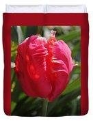 Bright Pink Tulip1 Duvet Cover