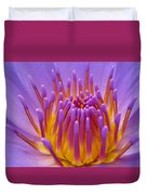Bright Purple Lotus Duvet Cover
