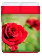 Bright Red Rose Duvet Cover