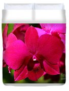 Bright Scarlet Red Orchid Duvet Cover