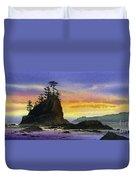 Bright Seacoast Sunset Duvet Cover