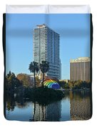Bright Spot In Downtown Orlando Duvet Cover