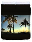 Bright Sunshine Greets The Palms Duvet Cover