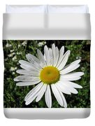 Bright White Flower With Water Droplets Duvet Cover