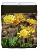 Bright Yellow Flowers  Duvet Cover
