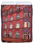 Brightly Colored Cooperative Business Bank Building Or Vurnik Ho Duvet Cover