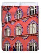 Brightly Colored Facade Vurnik House Or Cooperative Business Ban Duvet Cover
