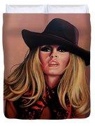 Brigitte Bardot Painting 1 Duvet Cover