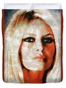 Brigitte Bardot By Mary Bassett Duvet Cover