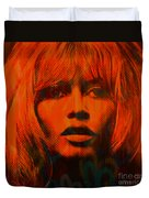 Brigitte Bardot Love Pop Art Duvet Cover
