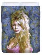 Brigitte Bardot Van Gogh Style Duvet Cover
