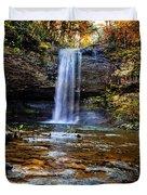 Brilliant Fall Waterfall At Cloudland Canyon Duvet Cover