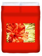 Brilliant Hibiscus Duvet Cover
