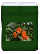 Brilliant Orange Tropical Flower Duvet Cover