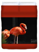 Brilliant Pink Flamingo Duvet Cover