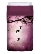 Brilliant Pink Surreal Sky Duvet Cover