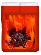 Brilliant Poppy Duvet Cover