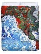 Brilliant World - Left Panel Duvet Cover