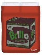 Brillo Box Colored 1 - Warhol Inspired Duvet Cover