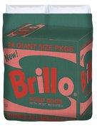 Brillo Box Colored 10 - Warhol Inspired Duvet Cover