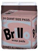 Brillo Box Colored 20 - Warhol Inspired Duvet Cover