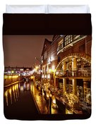 Brindleyplace At Night Duvet Cover