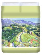 Briones Crest In May, Lafayette, Ca Duvet Cover