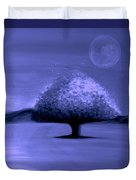 Brisk Silver Moon Duvet Cover