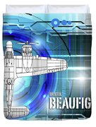 Bristol Beaufighter Blueprint Duvet Cover