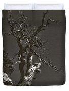Bristlecone Pine In Black And White Duvet Cover
