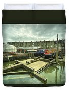 Bristol Barge Dry Dock  Duvet Cover