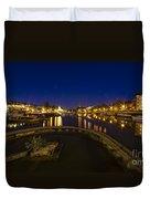 Bristol Docks By Night  Duvet Cover