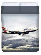 British Airways 747 G-civi Duvet Cover