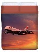 British Airways A380 G-xlef Duvet Cover