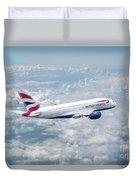 British Airways Airbus A380-841 Duvet Cover