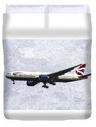 British Airways Boeing 777 Art Duvet Cover