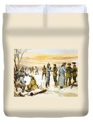British And German Soldiers Hold A Christmas Truce During The Great War Duvet Cover