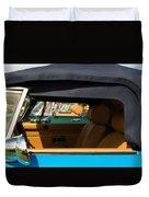 British Car Blue Duvet Cover