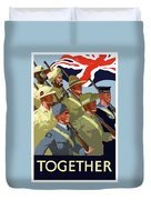 British Empire Soldiers Together Duvet Cover
