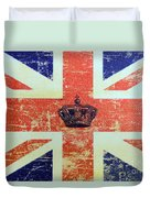 British Flag And Royal Crown Duvet Cover