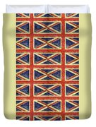 British Flag Collage One Duvet Cover