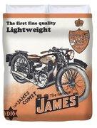 British James Comet Motorcycle  1948 Duvet Cover