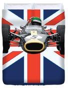 British Lotus Duvet Cover