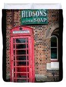 British Phone Box Duvet Cover