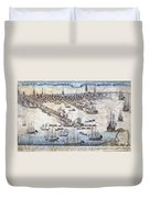 British Ships Of War, Landing Troops Duvet Cover