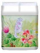 British Wild Flowers Duvet Cover