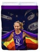 Brittney Griner Lgbt Pride 3 Duvet Cover