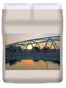 Broad Ripple Sunrise Duvet Cover