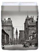 Broad Street Philadelphia 1905 Duvet Cover